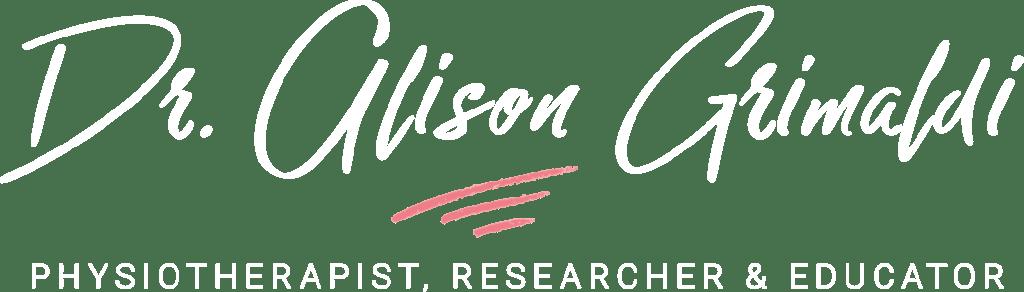 Dr Alison Grimaldi