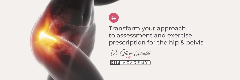 Dr Alison Grimaldi's HIp Academy banner