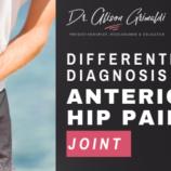 Dr Alison Grimaldi Blog Thumbnail_Differential diagnosis of anterior hip pain_joint